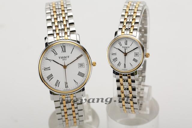 Đồng hồ đôi Tissot 1853 T52.2.481.31 và T52.2.281.31