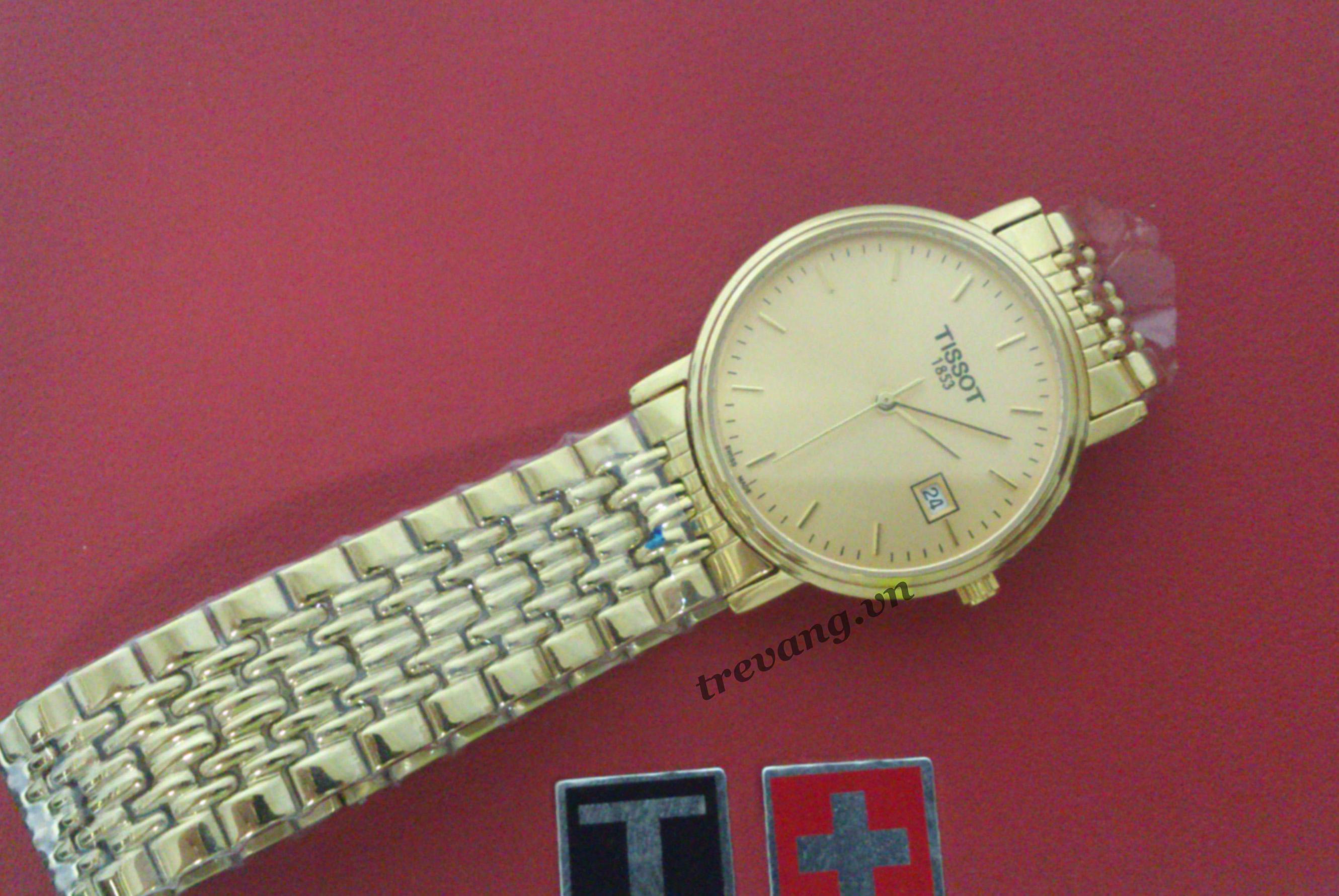 Đồng hồ nữ Tissot 1853 T52.5.281.21 mạ vàng 18k vaf box