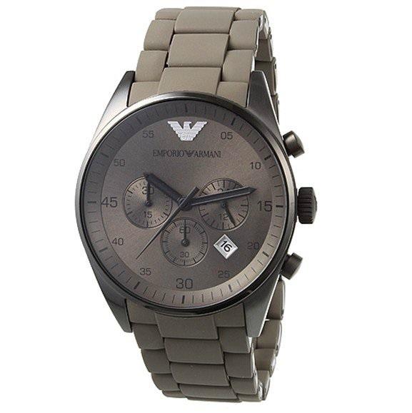 Đồng hồ nam Armani AR5950 Thép bọc Silicon phong cách.