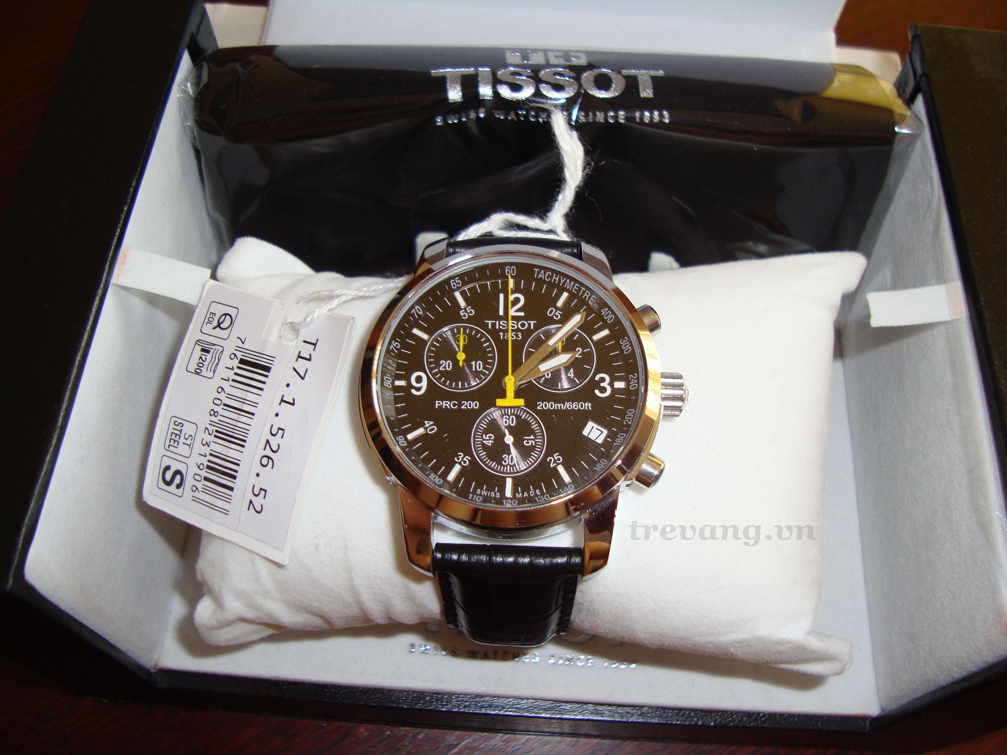 Đồng hồ Tissot T17.1.526.52 dây da cao cấp.