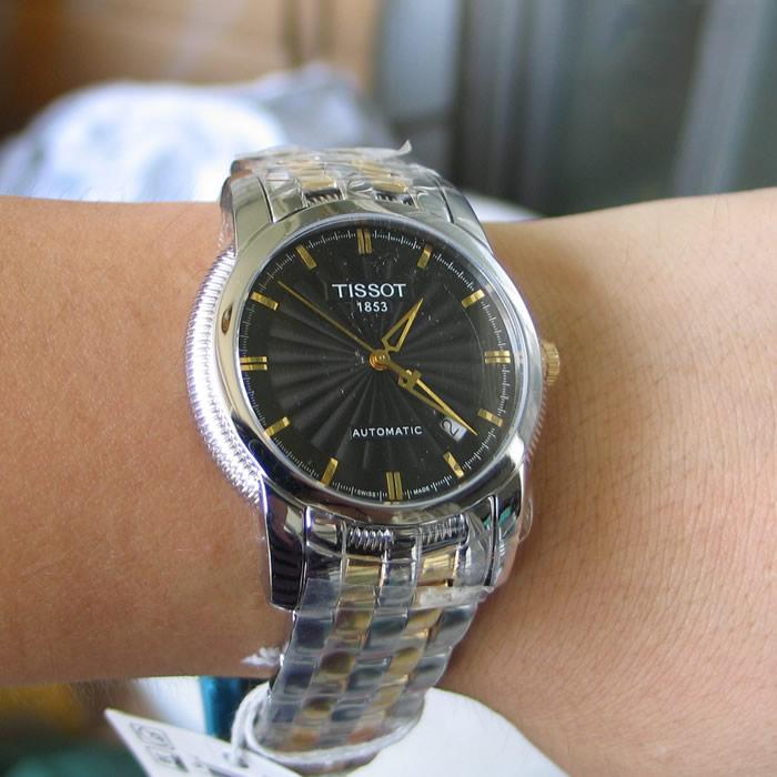 Đồng hồ cơ nam Tissot T97.2.483.513 kích thước vừa đủ