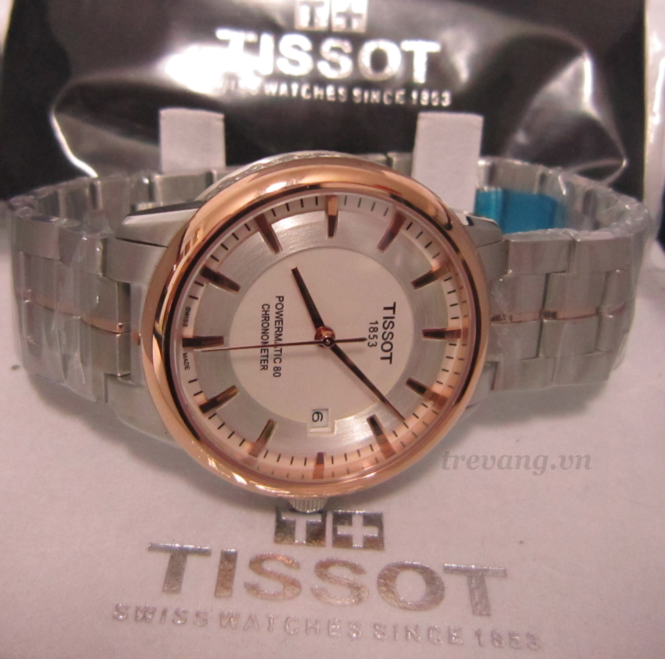 Đồng hồ cơ nam Tissot 1853 T086.207.22.261.00 box.