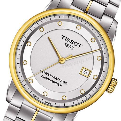 Đồng hồ cơ nam Tissot 1853 T086.408.22.036.00 cận mặt trước.