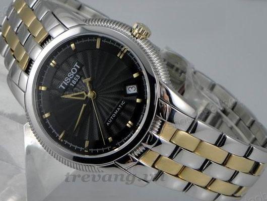 Đồng hồ cơ nam Tissot T97.2.483.51 ngang