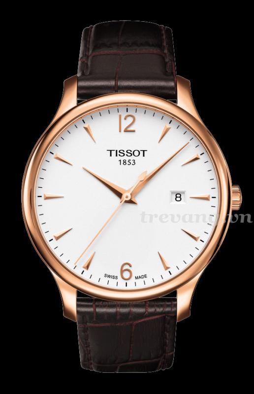 Đồng hồ Tissot 1853 T063.610.36.037.00 dây đeo da, mạ vàng cao cấp.