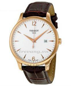 Đồng hồ cơ Tissot 1853 T063.610.36.037.00 dây da, mạ vàng cao cấp