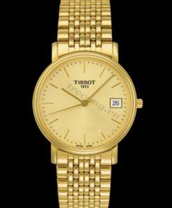 Đồng hồ nữ Tissot 1853 T52.5.281.21 thanh mảnh mạ vàng 18k toàn bộ bề mặt.