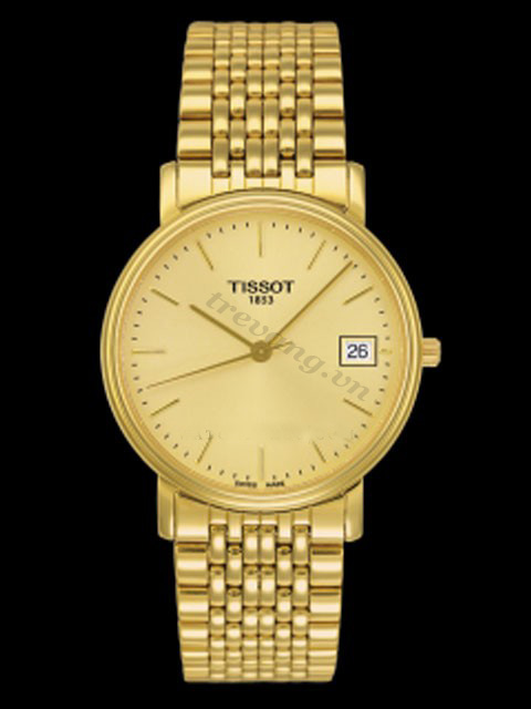 Đồng hồ nữ Tissot 1853 T52.5.281.21 thanh mảnh mạ vàng 18k