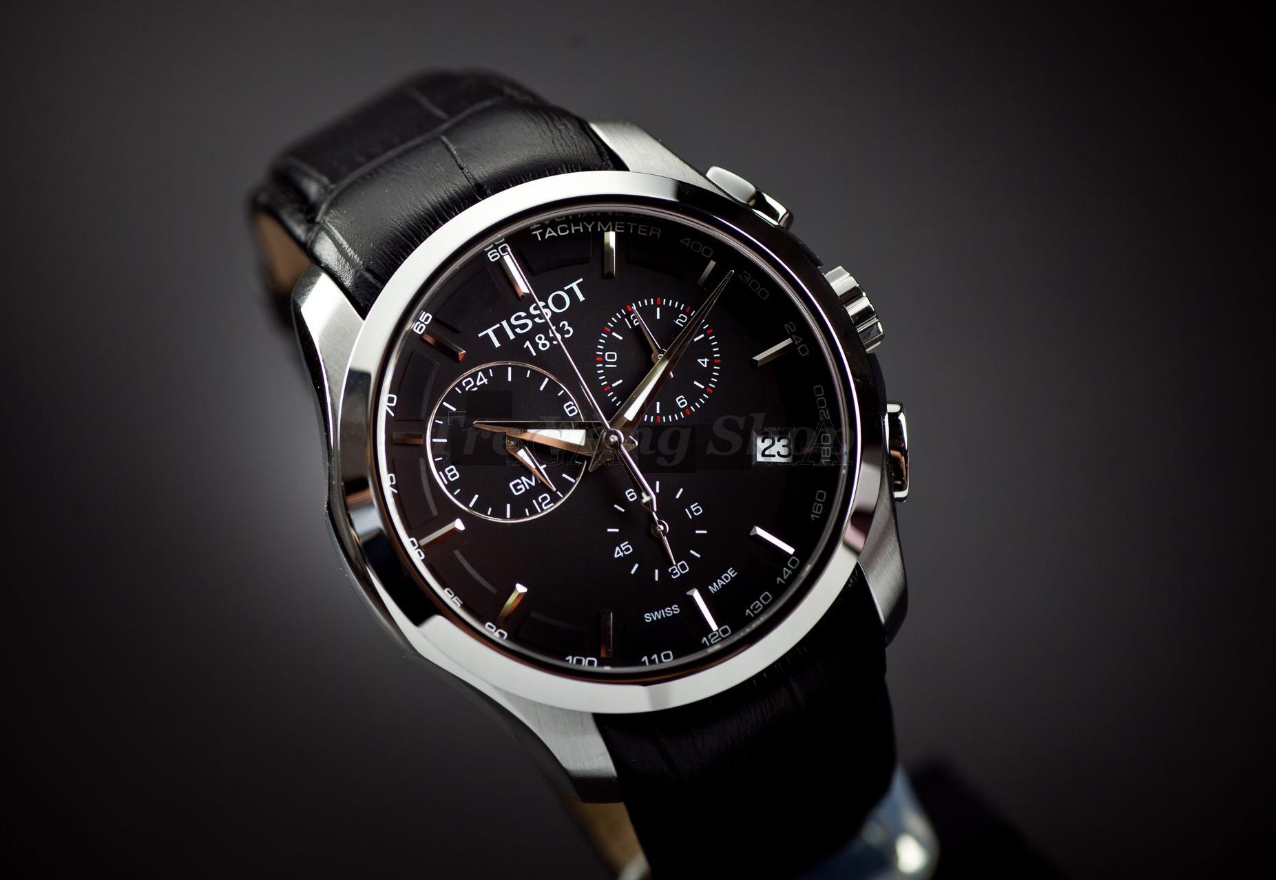 Đồng hồ nam Tissot 1853 T035.439.16.051.00 T-Sport đá sapphia đen, dây da đen mềm
