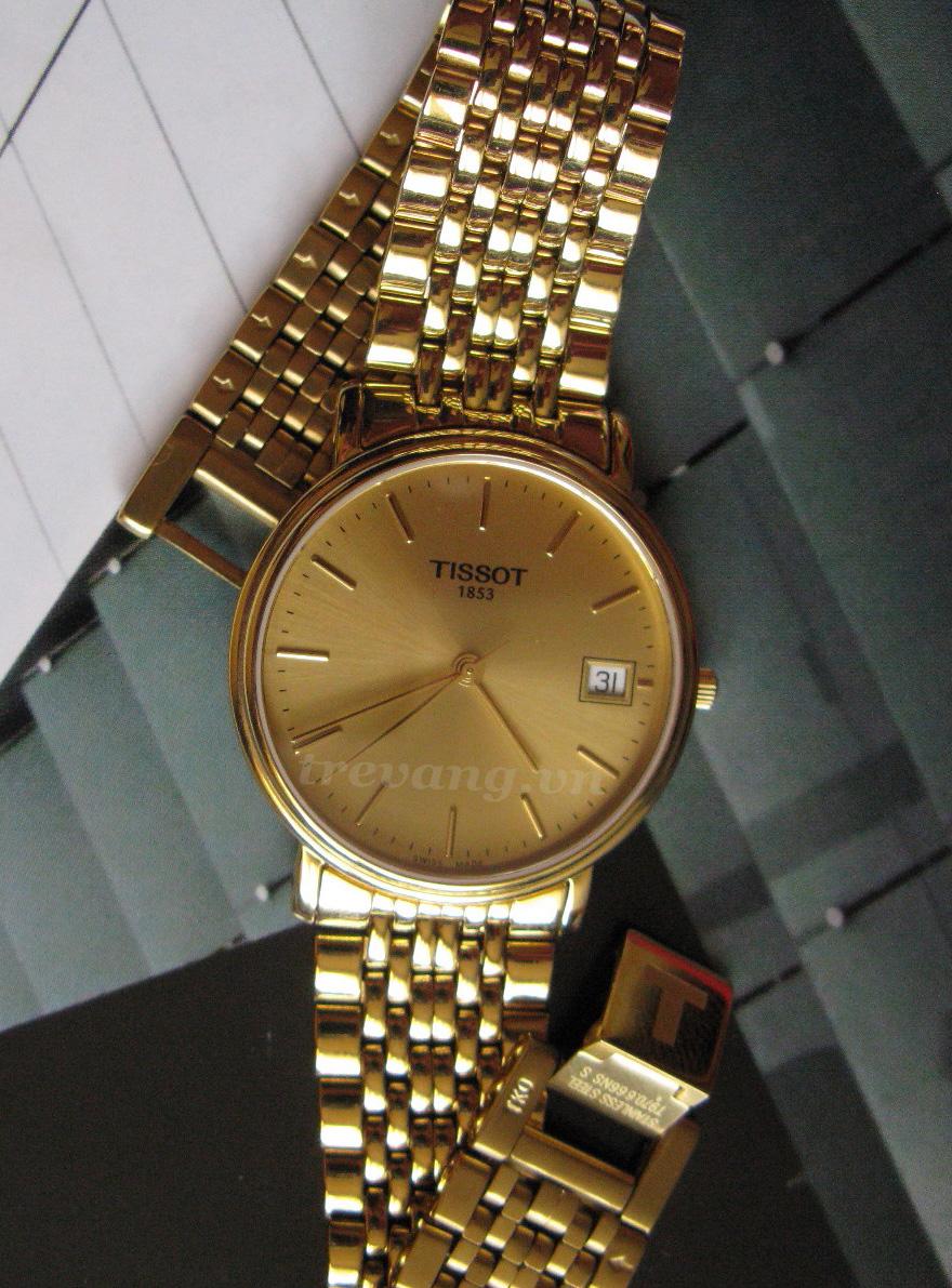 Đồng hồ mạ vàng Tissot T52.5.281.21 T-Gold