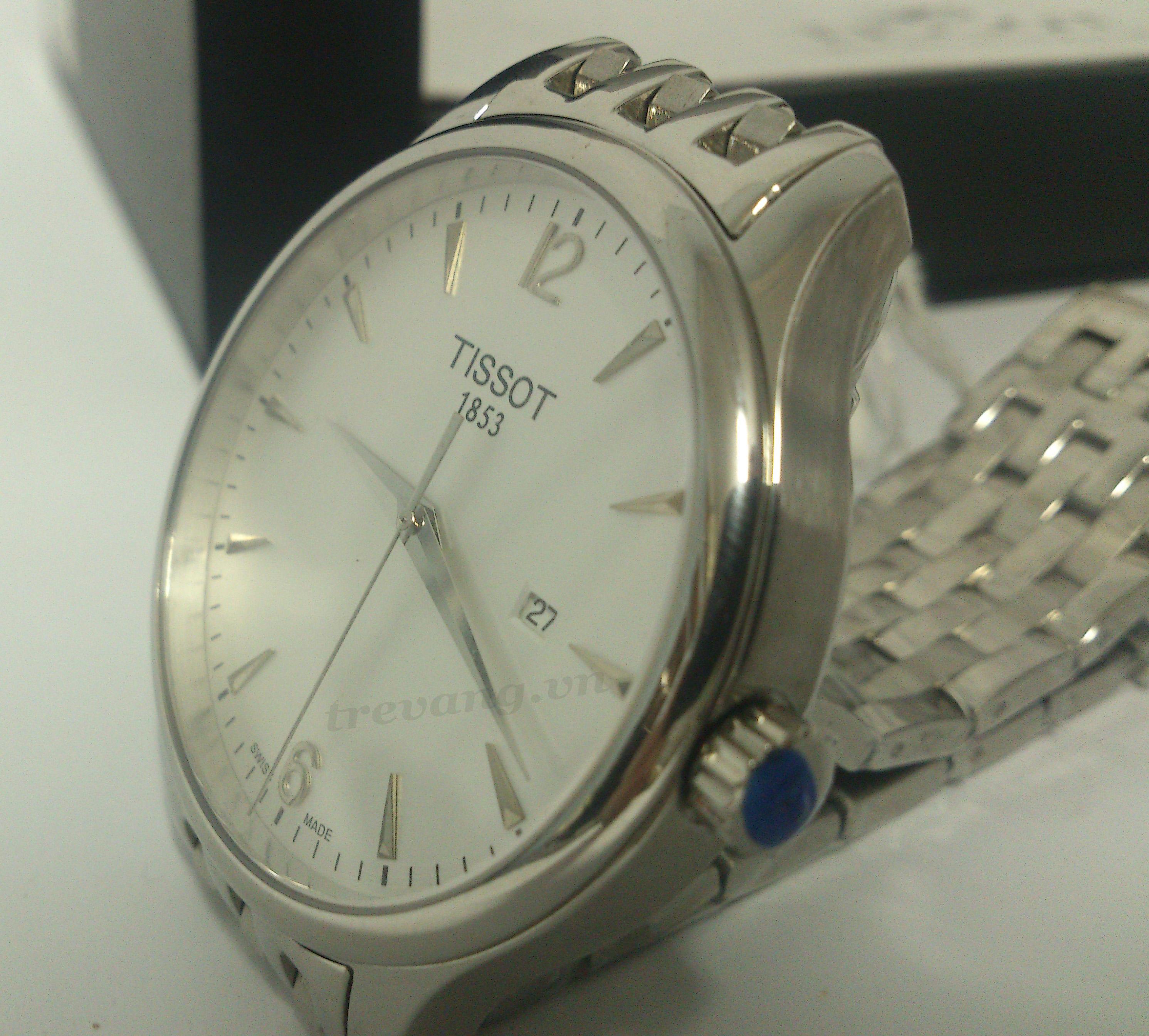 Đồng hồ nam Tissot 1853 T063.610.11.037.00 núm chỉnh giờ