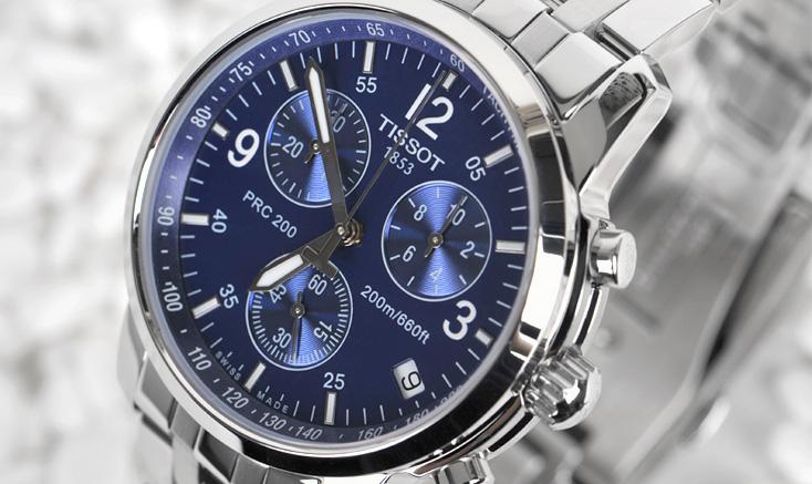 Đồng hồ Tissot PRC200 T17.1.586.42 3 nút tùy chỉnh
