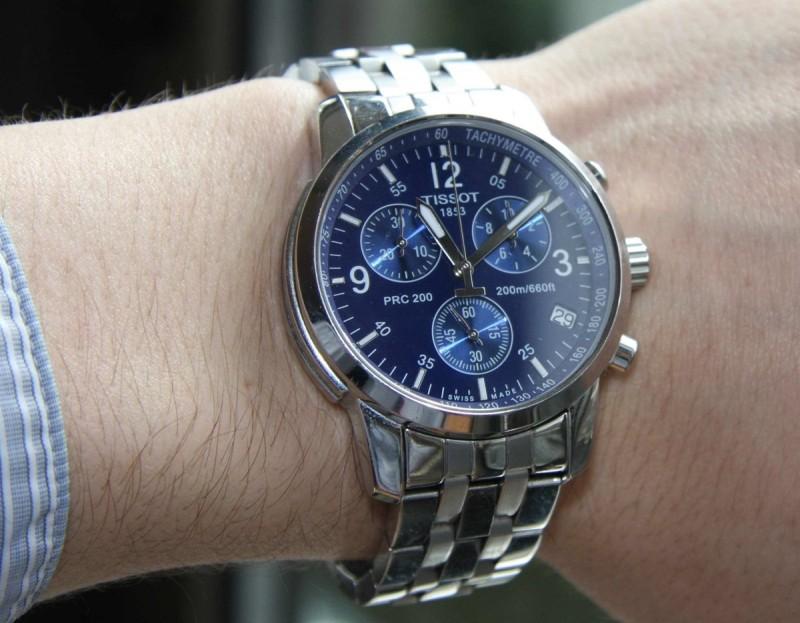 Đồng hồ Tissot PRC 200 T17.1.586.42 trên tay