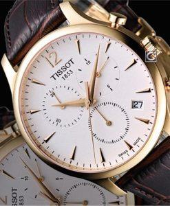 Đồng hồ Tissot T063.617.36.037.00 viền vàng