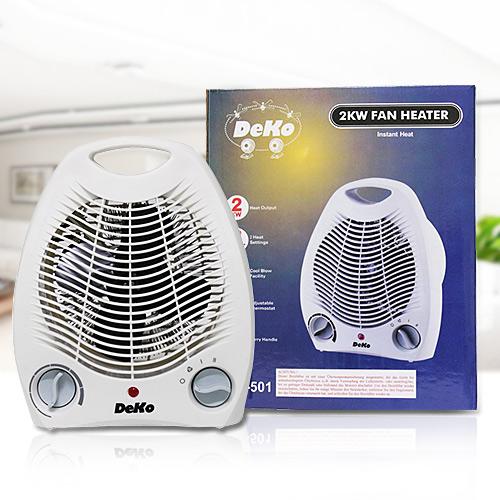 quạt sưởi 2 chiều Deko công suất tiêu thụ thấp tỏa nhiệt nhanh