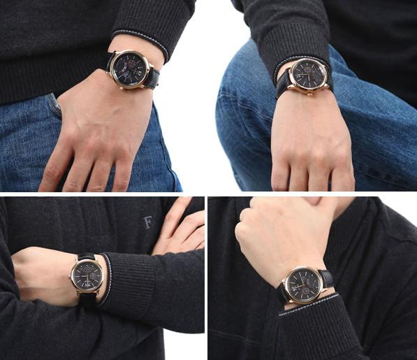 Đồng hồ đeo tay nam  Citizen AT0496-07E trên cổ tay lịch lãm