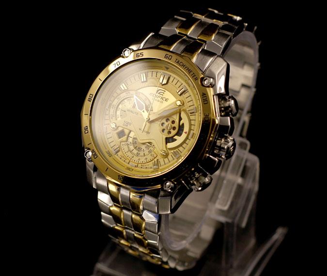 Đồng hồ nam Casio EF-550SG-9A với 3 núm chỉnh giờ