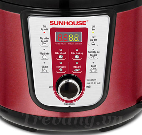 Bảng điều khiển Nồi áp suất điện Sunhouse SHD1757