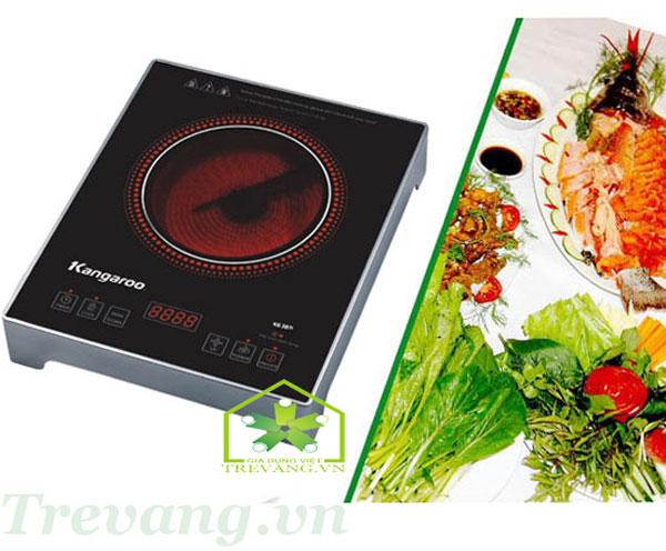 Bếp hồng ngoại đơn Kangaroo KG385i bảng điều khiển cảm cứng