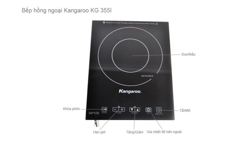 Mô tả chi tiết Bếp hồng ngoại Kangaroo KG355i