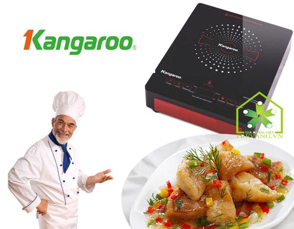 Bếp hồng ngoại Kangaroo KG383i dùng phím cảm ứng điều khiển bếp