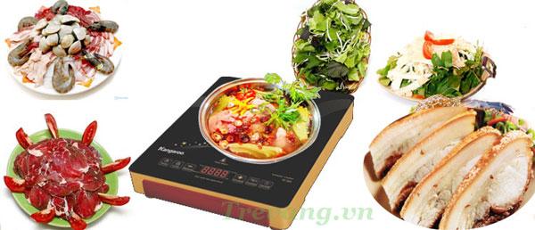 Bếp hồng ngoại đơn Kangaroo KG389i nút bấm cảm ứng