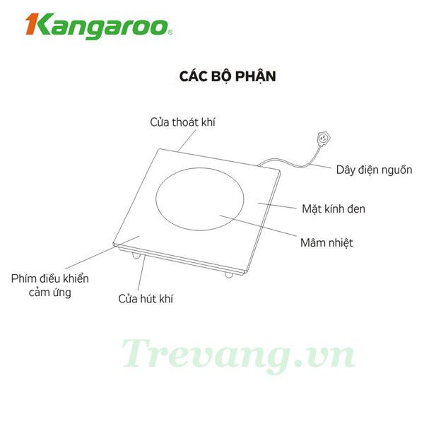 Bếp hồng ngoại Kangaroo KG383i chi tiết các bộ phận