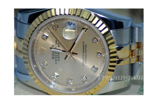 Đồng hồ đeo tay nam Rolex R.602 mặt kính Sapphire chống xước