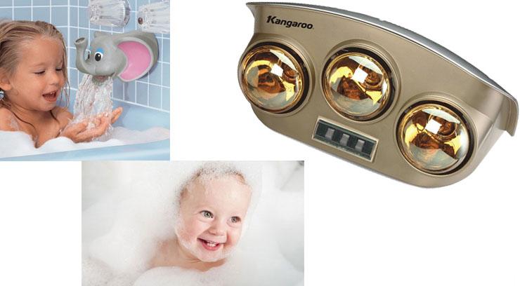 Đèn sưởi nhà tắm Kangaroo KG251 sưởi ấm nhanh