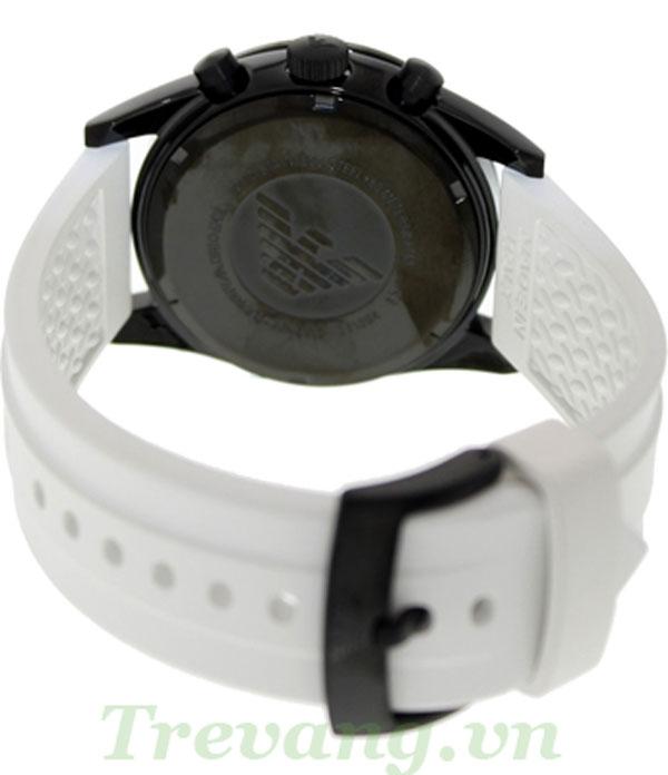Mặt sau và dây đeo Đồng hồ nam Armani AR6112