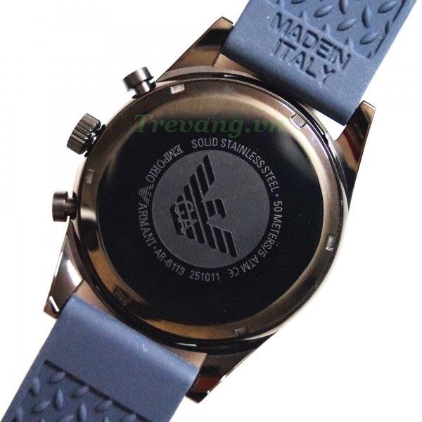 Đồng hồ Armani nam AR6113 thiết kế mặt sau