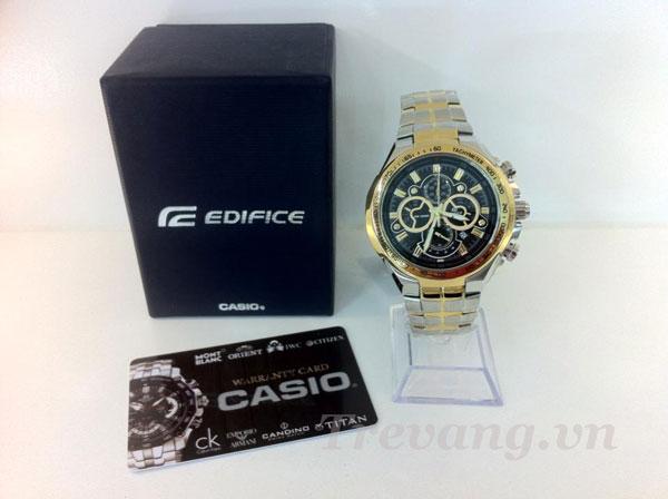 Đồng hồ Casio Edifice EF-554SD-1A, hộp và giấy bảo hành