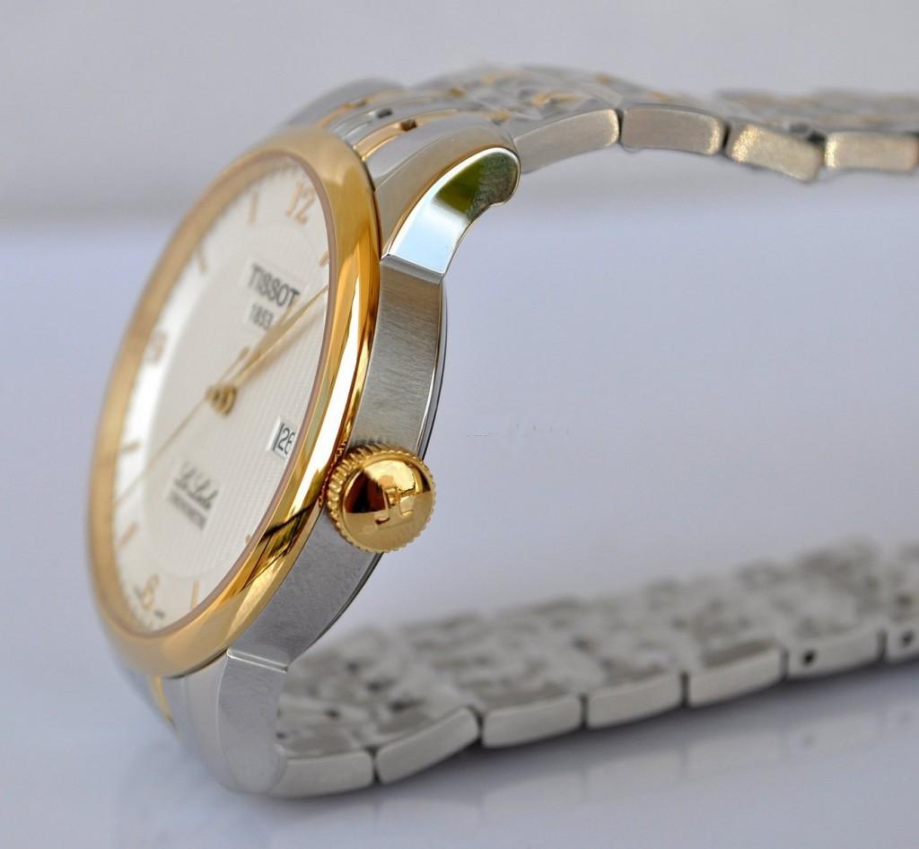 Đồng hồ Tissot 1853 12BL04472 dây đeo và núm chỉnh giờ