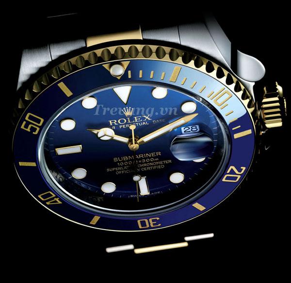 Đồng hồ Rolex nam R.1000 núm chỉnh giờ nhỏ gọn