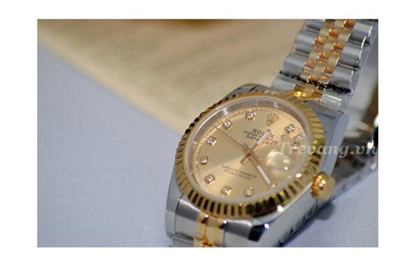 Đồng hồ đeo tay nam Rolex R.602 mặt đính đá