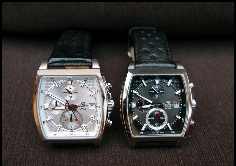 Đồng hồ nam Casio EFR-524L-1AV mặt kính đen và EFR-524-9AV mặt kính trắng.