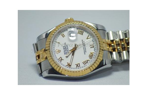 Đồng hồ nam đẹp Rolex R.601 dây đeo hợp kim mạ vàng
