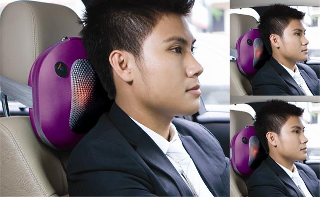 Gối massage hồng ngoại Pillow PL-819B phù hợp với người lái xe.