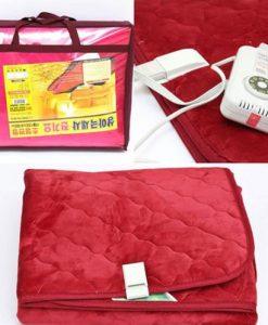 Đa sắc màu chăn điện Hàn Quốc Woori vải nhung WRN01