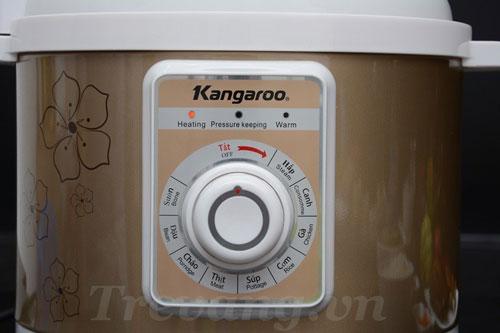 Nồi áp suất đa năng Kangaroo KG137 có nút điều khiển nhiệt