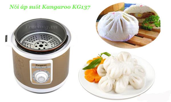 Nồi áp suất đa năng Kangaroo KG137 hấp bánh ngon