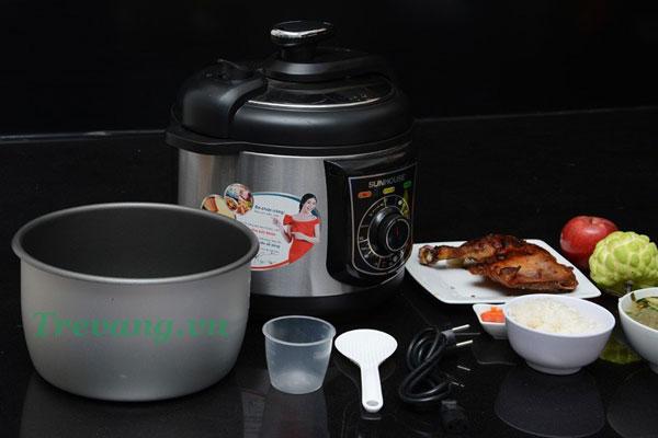 Nấu nhanh, tiết kiệm điện với Nồi áp suất điện Sunhouse SHD1650
