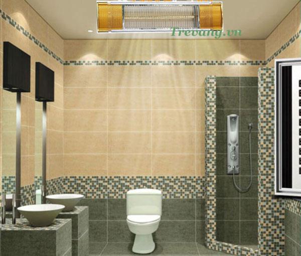 Đèn sưởi nhà tắm HE-IT110 giúp phòng tắm ấm áp