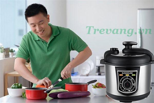 Trổ tài nấu nướng với Nồi áp suất điện Sunhouse SHD1650