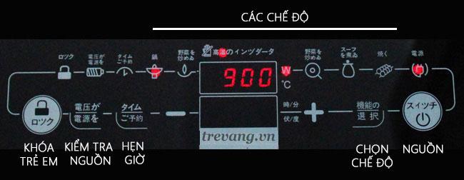 Bẳng điều khiểncảm ứng bếp điện hồng ngoại đơn Hitachi