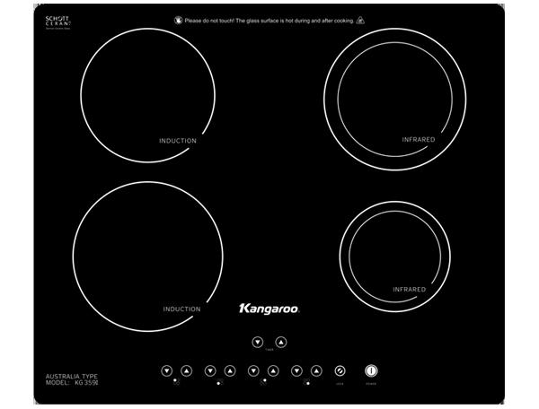 Bếp điện từ hồng ngoại Kangaroo KG359i 2 từ 2 hồng ngoại