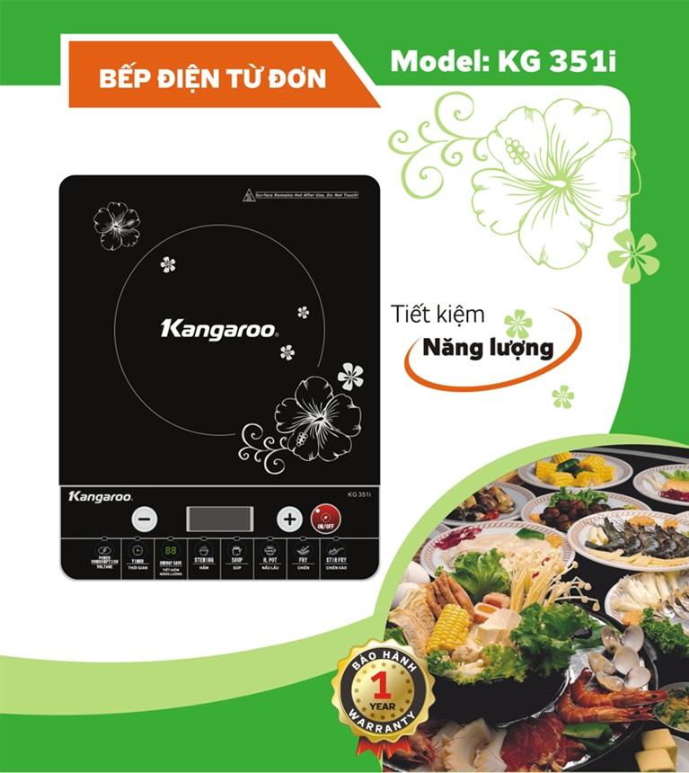 Bếp điện từ Kangaroo KG351i tiết kiệm năng lượng