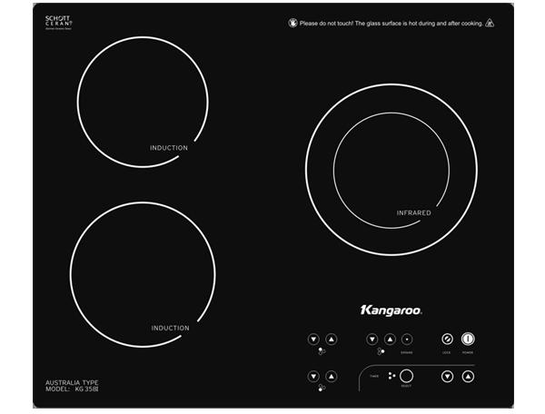 Bếp hồng ngoại Kangaroo KG358i mặt kính đen chống xước