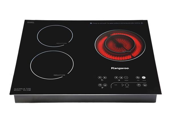 Bếp hồng ngoại Kangaroo KG358i 1 hồng ngoại 2 điện từ ba