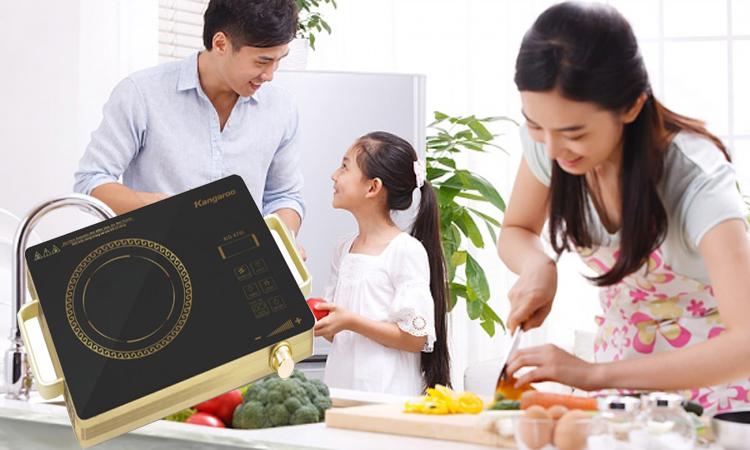 Bếp hồng ngoại Kangaroo KG470i ấm áp hạnh phúc gia đình